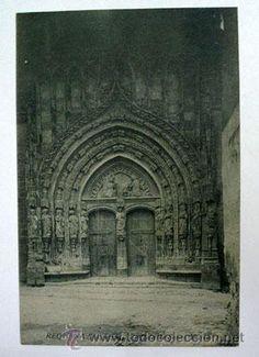 Antigua postal. REQUENA - (Valencia). Portada de Santa María - Foto 1