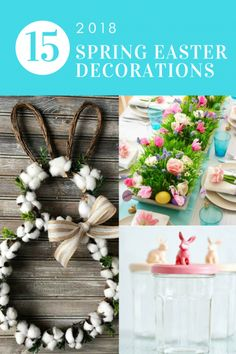 Easter decor ideas. The Best 15 Spring Easter Decorations for 2018