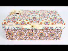 Como Forrar Caixa de Sapato com Tecido - Do Lixo ao Luxo - Reciclagem - YouTube