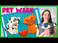 Cassie Stephens: Pet Week: Origami Cat, Dog and Cup! Origami Cup, Gato Origami, Weaving Projects, Clay Projects, Circle Loom, Art For Kids, Crafts For Kids, Cassie Stephens, Dogs And Kids