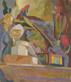 Duncan Grant (UK, - The Mantelpiece (Mensola del camino) - 1914 - Oil and collage of paper laid on board - Tate, London Duncan Grant, Art Grants, Vanessa Bell, Arts And Crafts Storage, Bloomsbury Group, Tate Gallery, Art Terms, Post Impressionism, Painting Gallery
