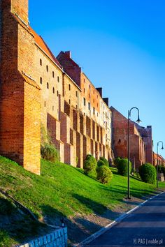 The old brick granaries complex in Grudziadz, Poland
