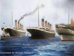 Titanic  Olympic  Britannic