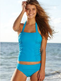 Ruching...Ruching is a body's best friend....RUCHED TANKINI AND HIPSTER, EACH $24.50, DELIAS.COM...TTL $29