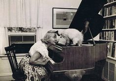 Vivian Vance aka Ethel Mertz with cat