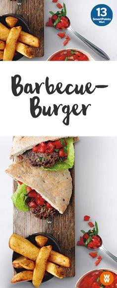Leckere Barbecue-Burger mit Tomaten-Salsa