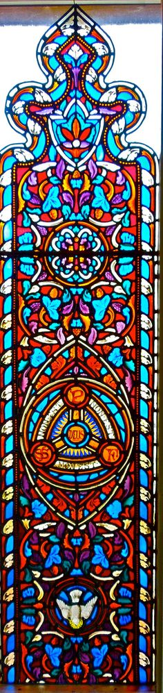 STUNNING  GOTHIC STAINED Glass Windows 100 Years Old. $9,850.00, via Etsy.