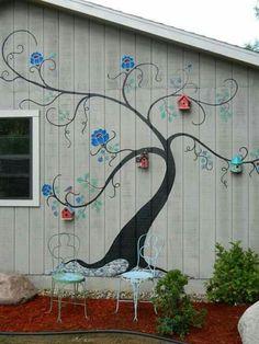 Birdhouse Painted Garage