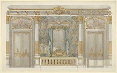 Design for Louise Vanderbilt's Bedroom at Hyde Park