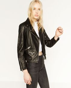 Image 8 of LEATHER JACKET from Zara