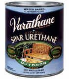 Rustoleum Water Based Outdoor Diamond Wood Finish Spar Urethane. Use this as a final topcoat after painting tile. It will seal the paint thoroughly, and also give it a tile-like shiny finish! Get it here for $27.87 / qt.