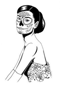 sugar hepburn (sugar skull) by nat.hanss
