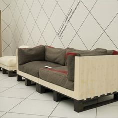 DIY Pallet Couch - Attractive Addition for Living Room - Pallet Furniture
