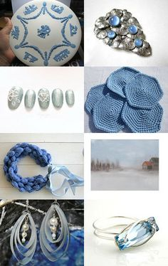 Wedgwood Blues by Ari Wolfchild on Etsy--Pinned with TreasuryPin.com