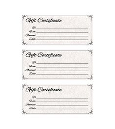 Click Here For Full Size Printable Gift Certificate  Gift