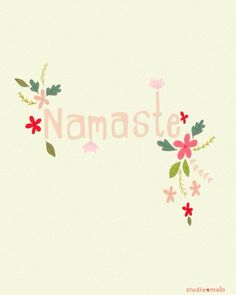 Digital Illustration Print - Namaste Yoga - typography art, illustration yoga print, quote art, yoga art - NAMASTE - Tap the pin if you love super heroes too! Cause guess what? you will LOVE these super hero fitness shirts! Typography Art, Lettering, Yoga Quotes, Art Quotes, Quote Art, Yoga Inspiration, Yoga Kunst, Ayurveda, Yoga Illustration