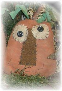 +pib  One Primitive Pumpkin Head by RustyThimble on Etsy, $5.99