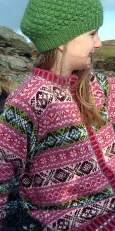 Sea Pinks Shetland Sky:: Hand Knit Fair Isle Sweater, Jumper :: Mary Williamson at Thistle amp& Broom Fair Isle Knitting Patterns, Knit Patterns, Knitting For Kids, Baby Knitting, Knitting Books, Scottish Clothing, Scottish Gifts, Fabric Embellishment, Fair Isles