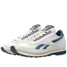 Run into the spotlight and standout in the latest Aztec model from Reebok. The lightweight midsole cushioning makes your next workout a breeze while the low-cut profile adds mobility whenever and wherever. Offering timeless style, the Skull Grey nylon uppers boast premium suede overlays with Nylon Blue side profile logo and textured rubber outsole for extra traction.   Nylon Uppers Suede Overlays Lightweight Cushioning Iconic Side Profile Logo Textured Outsole
