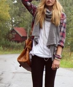 scarf and plaid