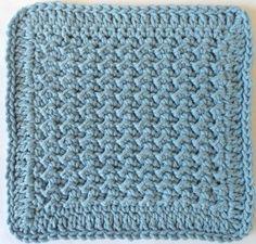 Lumpy Crochet Dishcloth