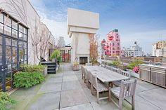 New York Penthouse Duplex Loft New York Penthouse, New York Loft, Duplex New York, Ny Loft, Southampton, Rooftop Terrace, West Village, Paris, Outdoor Spaces