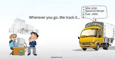 Track your vehicle anytime anywhere ! And also helps to optimize fuel consumption and real-time alerts in case of rash driving. #GPS #Tracker