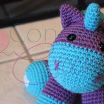 Ready to ship! You will get the exact unicorn shown in the pictures.  This little guy measures about 5.9 x 6.8 inches. Eyes used are 12mm safety eyes.   Credit to Little Yarn Friends for pattern http://littleyarnfriends.tumblr.com/