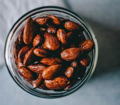 Quick, Easy and Oh So Delicious Tamari Almonds ~ Wholefood Simply Gourmet Recipes, Whole Food Recipes, Vegan Recipes, Cooking Recipes, Cooking Stuff, Family Recipes, Healthy Sweet Treats, Paleo Treats, Healthy Snacks