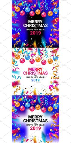 Happy New Year 2019, Merry Christmas And Happy New Year, Christmas 2019, Postcard Design, Decor, Decoration, Decorating, Deco