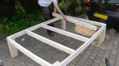 queen size bed frame - YouTube