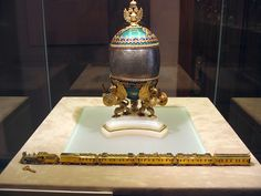 The trans siberian railway egg is a jewelled easter egg made under faberge imperial easter eggs 1900 trans siberian railway negle Gallery