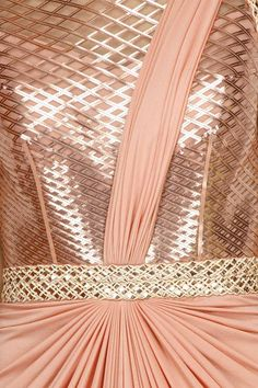 Saree Gowns, Sarees, Clothing, Carma, Rose Gold faux metal embellished pre draped saree gown