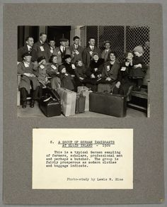 A group of German immigrants at Ellis Island, 1926  (We were among the masses at Ellis Island in 1952.)