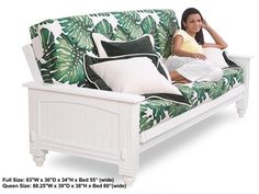 Full Size Cottage White Futon Bed Package by Lifestyle Solutions