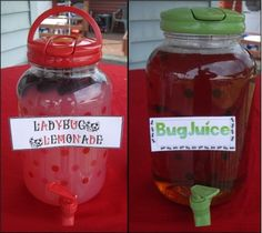 Drinks! for the kid's party or everyday.....