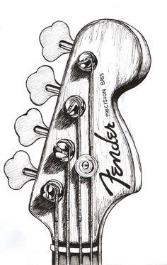 bass guitar drawing - Google zoeken                                                                                                                                                     More
