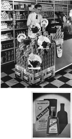 McCormick's Tea Pots for sale in a Baltimore, MD store in the 1940's.