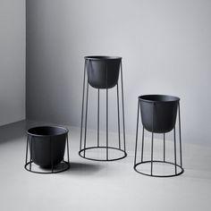 Menu - Wire Pot, schwarz - Ambientebild