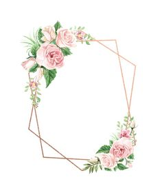 Watercolor Floral Geometric Frame in 2019 Flower Background Wallpaper, Flower Backgrounds, Wallpaper Backgrounds, Iphone Wallpaper, Phone Backgrounds, Wallpapers, Wedding Cards, Wedding Invitations, Photos Booth