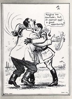 In June, 1941 Germany attacked Russia. Just two years after it had signed the Non-Aggression Pact.. RAW WW2 HISTORY REDEFINED: World War Two In Cartoons By ILLINGWORTH