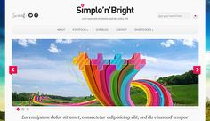 Simple'n'Bright Wordpress Theme - Download it for free from Site5