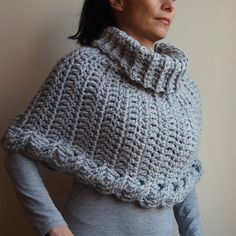 PDF crochet PATTERN cable capelet, chunky cowl, neckwarmer, infinity scarf, loop  scarf, poncho, DIY tutorial, Quick and easy gift on Etsy, $5.00