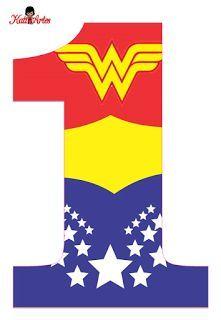 EUGENIA - KATIA ARTES - BLOG DE LETRAS PERSONALIZADAS E ALGUMAS COISINHAS: Alfabeto e Números MULHER MARAVILHA Wonder Woman Birthday, Wonder Woman Party, Birthday Woman, 1st Birthday Girls, 1st Birthday Parties, Birthday Ideas, Superman Birthday Party, Superhero Party, Girl Themes