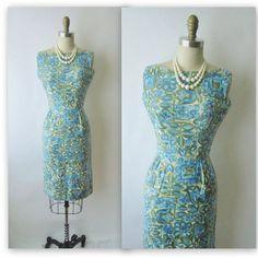 50's Floral Dress // Vintage 1950's Floral by TheVintageStudio, $70.00