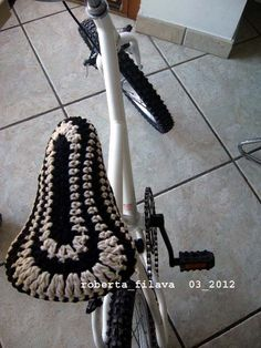 Crochet Cover Bike-This is a great idea for us roadies and us spinners!-MM