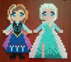 Anna Elsa frozen perler bead