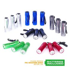 EverBrite 18-Pack Mini Aluminum LED Flashlight Set with Lanyard Batteries Included ** Read more reviews of the product by visiting the link on the image.
