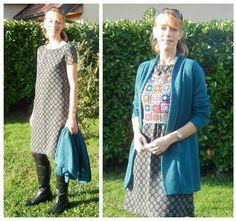 Dress: McCall's 6465 - Cardigan:  Ottobre Magazine 5/15 - Crop top: self designed