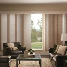 Bali Fabric Sliding Panels - contemporary - Vertical Blinds - Houston - Blinds.com Make ours look 3panels wide?